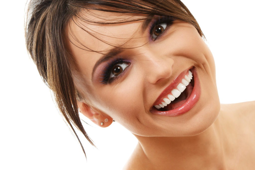 young attractive woman smiling nice teeth